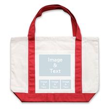 个性DIY帆布袋-四图拼贴(不同尺寸&红色)