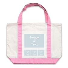 个性DIY帆布袋-四图拼贴(不同尺寸&粉色)