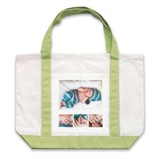 个性DIY帆布袋-四图拼贴(不同尺寸&绿色)