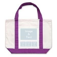个性DIY帆布袋-四图拼贴(不同尺寸&紫色)