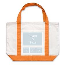 个性DIY帆布袋-四图拼贴(不同尺寸&橙色)
