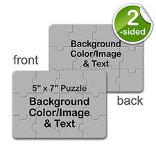 5×7 英寸 小号照片拼图 双面不同设计 横式