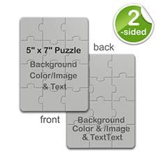 5×7 英寸 小号照片拼图 双面不同设计 竖式