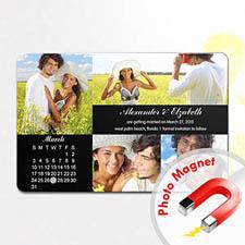 4x6英寸幸福时光--日历照片磁贴(152.4x101.6mm),多图款(黑色)(8张起订)