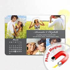4x6英寸幸福时光--日历照片磁贴(152.4x101.6mm),多图款(灰色)(8张起订)