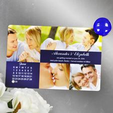 4x6英寸幸福时光--日历照片磁贴(152.4x101.6mm),多图款(蓝色)(8张起订)
