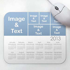 6图拼图 带日历鼠标垫 白色