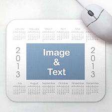 优雅款 照片带日历鼠标垫 白色