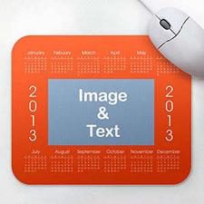 优雅款 照片带日历鼠标垫 橙色