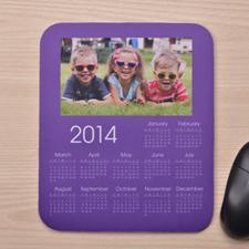 照片带日历鼠标垫 紫色