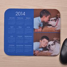 2图拼盘 带日历鼠标垫 蓝色 2015