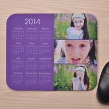 3图拼盘 带日历鼠标垫 淡紫色