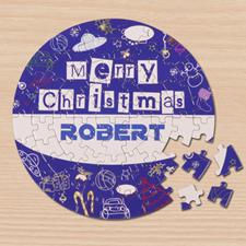 圆形拼图  圣诞主题