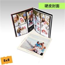 8x8寸精装硬皮相册定制照片书