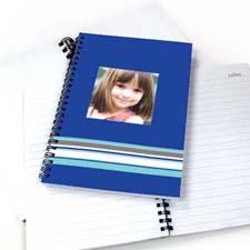 七彩条纹 笔记本 蓝色