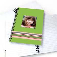 七彩条纹 笔记本 绿色