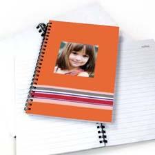 七彩条纹 笔记本 橙色