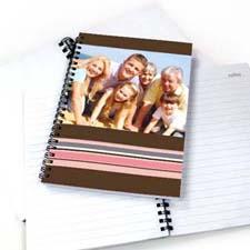 七彩条纹 笔记本 巧克力色
