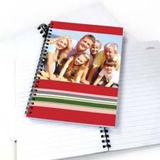 七彩条纹 笔记本 红色