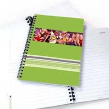 3图拼盘彩色条纹 笔记本 绿色