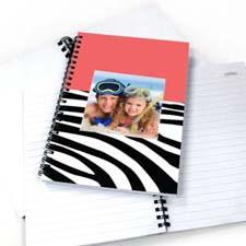 斑马条纹粉色背景 笔记本