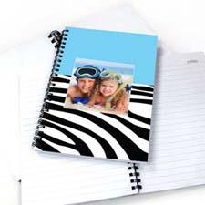 斑马条纹蓝色背景 笔记本