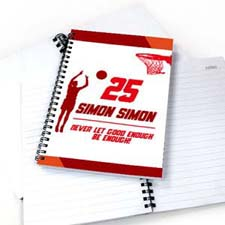 篮球运动员 笔记本
