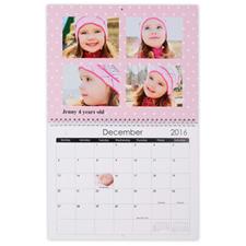 11×14英寸新年挂历 淡粉色