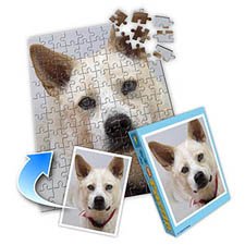 宠物照片 10x8英寸照片拼图(竖式)