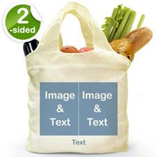 个性环保购物袋 2图和文字 双面定制