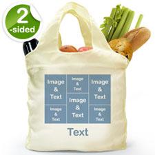 个性环保购物袋 6图和文字 双面定制