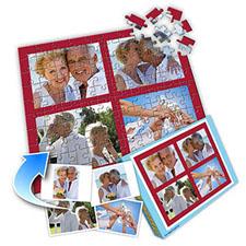 鲜红色背景 10x8英寸拼盘拼图(4图系列)