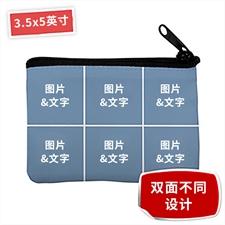 个性DIY零钱包–6图双面订制不同照片和文字