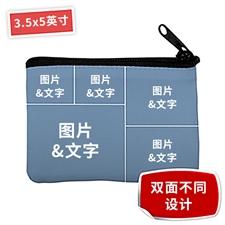 个性DIY零钱包–5图双面订制不同照片和文字
