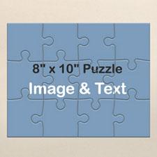10x8英寸个性拼图 定制照片拼图 照片和文字 12块/100块 (横式)
