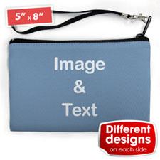 个性DIY化妆包(配手带款)-双面订制不同照片和文字