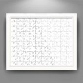 拼图相框10X8英寸 悬挂式 白色