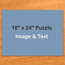 18x24英寸个性拼图 定制照片和文字 500块 (横式)