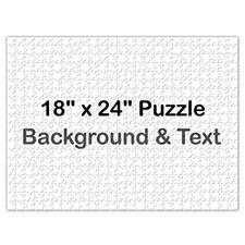 18x24英寸个性拼图 定制底色和文字 500块 (横式)
