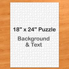 18x24英寸个性拼图 定制底色和文字 500块 (竖式)