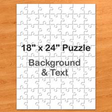 18x24英寸个性拼图 定制底色和文字 70块 (竖式)