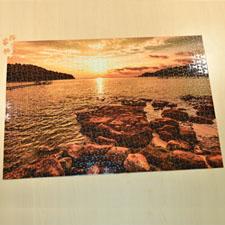 19.75x28 英寸 个性拼图 定制底色和文字 1000块 (横式)
