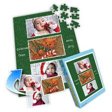 绿色假日 10x8英寸个性拼盘拼图 3图拼贴