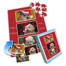 圣诞节纪念 10×8英寸个性拼盘拼图 3图拼贴