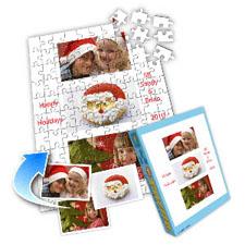 白色圣诞 10×8英寸个性拼盘拼图 3图拼贴