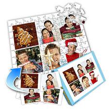 白色圣诞 10×8英寸个性拼盘拼图 6图拼贴