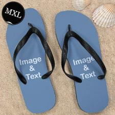 个性人字拖鞋 单图定制 男款XL