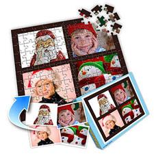 巧克力主题 10×8英寸个性拼盘拼图 4图拼贴