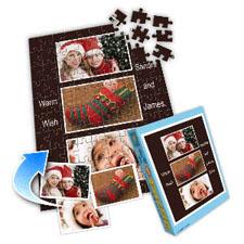 巧克力主题 10×8英寸个性拼盘拼图 3图拼贴