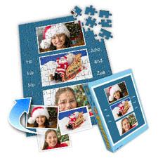 假日蓝色 10×8英寸个性拼盘拼图 3图拼贴